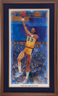 Basketball Collectibles:Others, 1989 Kareem Abdul Jabbar Signed Lithograph....
