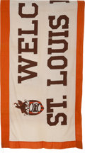 "Baseball Collectibles:Others, 1940's ""Welcome St. Louis Browns"" Huge Banner...."
