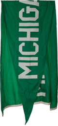 Football Collectibles:Others, 1960's Michigan State Spartans Flag Flown Over Notre Dame Stadium....