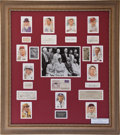 Autographs:Others, 1939 Baseball Hall of Fame Inaugural Class Multi-Signed Display....