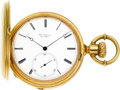 Timepieces:Pocket (pre 1900) , Jules Jurgensen Massive 18k Gold Bow Set Hunters Case, circa 1880....