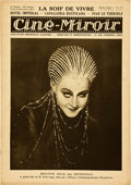 "Movie Posters:Science Fiction, Metropolis featured in ""Ciné-Miroir"" (April 16, 1927). FrenchMagazine (16 Pages, 9.5' X 13.5"").. ..."