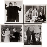"The Ghost of Frankenstein (Universal, 1942). Photos (8) (8"" X 10"") and Portfolio Pieces (14) (8. 5 X 11)..."