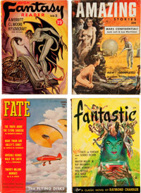 Assorted Science Fiction Digest Pulps Box Lot (Various, 1952-80) Condition: Average VG/FN