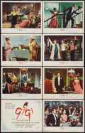 "Movie Posters:Musical, Gigi (MGM, 1958). Lobby Card Set of 8 (11"" X 14""). Musical.. ... (Total: 8 Items)"