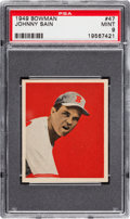 Baseball Cards:Singles (1940-1949), 1949 Bowman Johnny Sain #47 PSA Mint 9 - Pop Three with NoneHigher....
