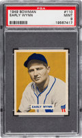 Baseball Cards:Singles (1940-1949), 1949 Bowman Early Wynn #110 PSA Mint 9 - Highest GradeAvailable....