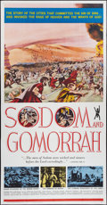 "Movie Posters:Historical Drama, Sodom and Gomorrah (20th Century Fox, 1963). Three Sheet (41"" X81""). Historical Drama.. ..."