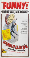 """Movie Posters:Comedy, Harold Lloyd's World of Comedy (Continental, 1962). Three Sheet(41"""" X 81""""). Comedy.. ..."""