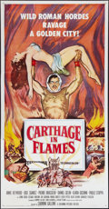 """Movie Posters:Exploitation, Carthage in Flames & Other Lot (Columbia, 1961). Three Sheets(2) (41"""" X 81""""). Exploitation.. ... (Total: 2 Items)"""