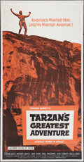 """Movie Posters:Adventure, Tarzan's Greatest Adventure and Other Lot (Paramount, 1959). ThreeSheets (2) (41"""" X 81""""). Adventure.. ... (Total: 2 Items)"""