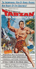 "Movie Posters:Adventure, Tarzan the Magnificent (Paramount, 1960). Three Sheet (41"" X 79"").Adventure.. ..."