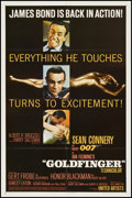 "Movie Posters:James Bond, Goldfinger (United Artists, 1964). One Sheet (27"" X 41"") GlossyStyle. James Bond.. ..."