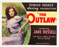 """Movie Posters:Western, The Outlaw (United Artists, 1946). Half Sheet (22"""" X 28"""").. ..."""