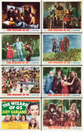 "Movie Posters:Fantasy, The Wizard of Oz (MGM, R-1955). Lobby Card Set of 8 (11"" X 14"")..... (Total: 8 Items)"