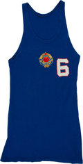 Basketball Collectibles:Uniforms, 1968 Summer Olympics Yugoslavian Player Jersey Worn in Gold MedalGame against USA....