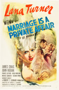 "Movie Posters:Comedy, Marriage is a Private Affair (MGM, 1944). One Sheet (27"" X 41"")....."