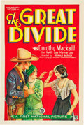 "Movie Posters:Western, The Great Divide (First National, 1929). One Sheet (27"" X 41"").. ..."