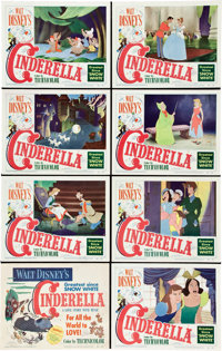"Cinderella (RKO, 1950). Lobby Card Set of 8 (11"" X 14""). ... (Total: 8 Items)"