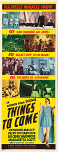 """Movie Posters:Science Fiction, Things to Come (Film Classics, R-1947). Insert (14"""" X 36"""").. ..."""