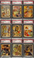 Non-Sport Cards:Singles (Pre-1950), 1941 R158 Uncle Sam/Home Defense High #'s PSA-Graded Partial Set(9). ...