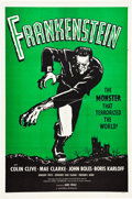 "Movie Posters:Horror, Frankenstein (Universal, R-1960). One Sheet (27"" X 41"").. ..."