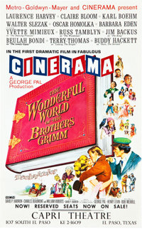 "The Wonderful World of the Brothers Grimm (MGM, 1962). Midget Window Card (9"" X 14.5"")"