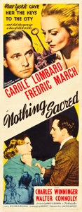 """Movie Posters:Comedy, Nothing Sacred (United Artists, 1937). Insert (14"""" X 36"""").. ..."""