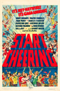 """Movie Posters:Comedy, Start Cheering (Columbia, 1938). One Sheet (27"""" X 41"""").. ..."""