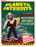 """Movie Posters:Science Fiction, Forbidden Planet (MGM, 1956). Belgian (14"""" X 22"""").. ..."""