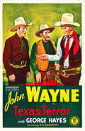 "Movie Posters:Western, Texas Terror (Monogram, R-1939). One Sheet (27"" X 41"").. ..."