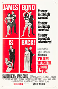 "From Russia with Love (United Artists, 1964). One Sheet (27"" X 41"") Style B"
