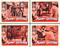 """Movie Posters:Science Fiction, Planet Outlaws (Goodwill, 1953). Lobby Card Set of 4 (11"""" X 14"""")..... (Total: 4 Items)"""