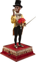 Antiques:Toys, Automaton: Dandy Gentleman Smoking Monkey, with moving cane....