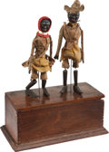 Antiques:Toys, Ives Clockwork Black Jig Dancers....