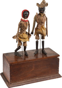 Ives Clockwork Black Jig Dancers