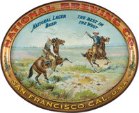 National Brewing Co. San Francisco Tin Lithographed Advertising Tray