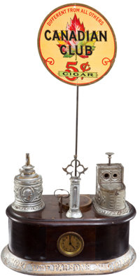 Wm. E. Parsons Cigar Store Counter Display Lighter and Cutter