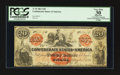 Confederate Notes:1861 Issues, T19 $20 1861 PF-1 Cr. 137 CC.. ...