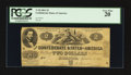 Confederate Notes:1861 Issues, T38 $2 1861 PF-1 Cr. 286.. ...