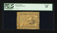 Continental Currency July 22, 1776 $2 PCGS Very Fine 25
