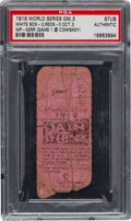 Baseball Collectibles:Tickets, 1919 World Series Game Three Ticket Stub, PSA Authentic....