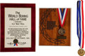 "Boxing Collectibles:Memorabilia, 1980's Carl ""Bobo"" Olsen World Boxing & Hawaii Sports Hall of Fame Induction Material...."