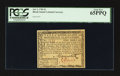 Colonial Notes:Rhode Island, Rhode Island July 2, 1780 $1 PCGS Gem New 65PPQ.. ...