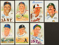 Perez Steele Signed Hall Of Fame Postcards Lot Of 7