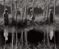 JERRY UELSMANN (American, b. 1934) Equivalent and Small Woods Where I Met Myself (Two Photog