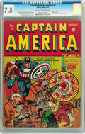 Golden Age (1938-1955):Superhero, Captain America Comics #5 (Timely, 1941) CGC VF- 7.5 Cream to off-white pages....