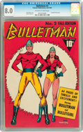 Golden Age (1938-1955):Superhero, Bulletman #2 (Fawcett, 1941) CGC VF 8.0 Off-white to white pages....