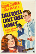 "Movie Posters:Drama, Internes Can't Take Money (Paramount, 1937). One Sheet (27"" X 41"").Drama.. ..."