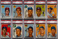 Baseball Cards:Lots, 1954 Topps Baseball High Grade Collection (90) With 29 PSA-GradedCards....